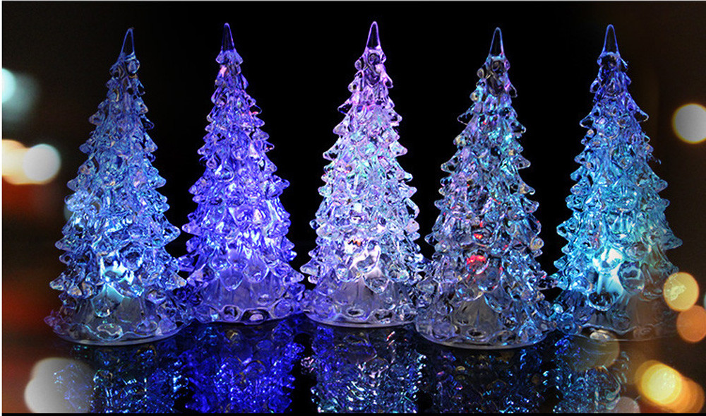 Kids Toys Baby Christmas Xmas Tree Color Changing LED Light Lamp Home Party Decoration Wedding игрушки Jouets pour enfants