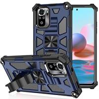 Funda de teléfono con armadura de soporte para Huawei P40 Lite P Smart Z Y9 Prime 2019 4G E Y7A Y9A Nova 6 7i SE Y7P 2020, funda protectora resistente