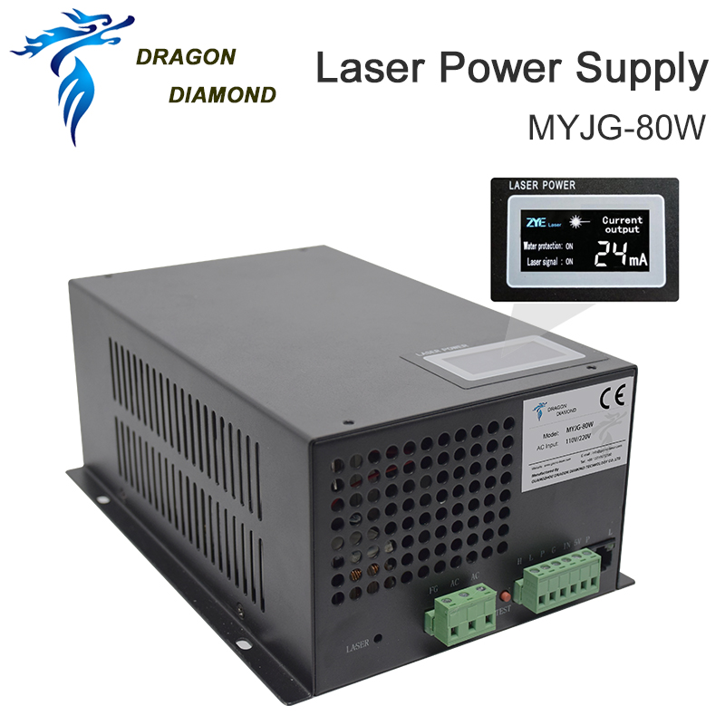 DRAGON DIAMOND 80W CO2 Laser Power Supply For CO2 Laser Engraving Cutting Machine MYJG-80W Category
