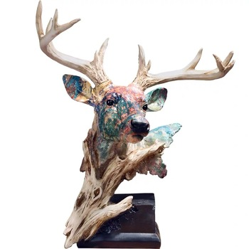 [MGT]Nordic ornament decoration resin simulation deer head statue home office creative decoration crafts