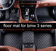 lsrtw2017 leather car floor mats for bmw E46 E90 F30 F31 F34 E91 E92 E93 E94 G20 2020 2019 2018 2017 2016 2015 2014 carpet mat for bmw e90 e92 e93 f20 f21 f30 f31 f32 f33 f34 f15 f10 f01 f11 f02 g30 m performance side skirt sill stripe body decals sticker