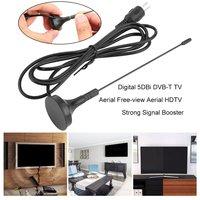 טלוויזיה אנטנה 5dBi Portable Digital DVB-T טלוויזיה חינם-צפה HDTV אנטנה גבוהה רווח מגברים טלוויזיה מקורה HDTV מאיצי איתות חזק (3)