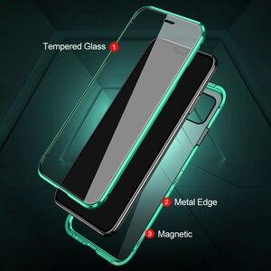 Image 5 - 360 ° מגנטי Flip מקרה עבור Xiaomi POCO F3 POCOPHONE F3 pocof3 קטן poxo f 3 3f דו צדדי זכוכית מתכת פגוש טלפון כיסוי