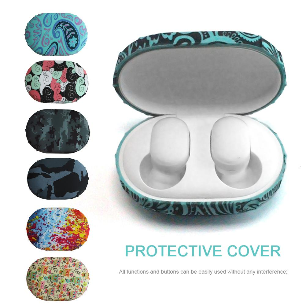 Wireless Earphone Charging Box Cover Bag Silicone Headset Set Storage Box Watermark Protective Cover Colorful Silica Gel in Earphone Accessories from Consumer Electronics