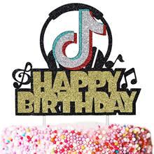 Fontes de festa de vídeo curto tik tema bolo de aniversário topper festa festiva decorações bolo topper festa decoração