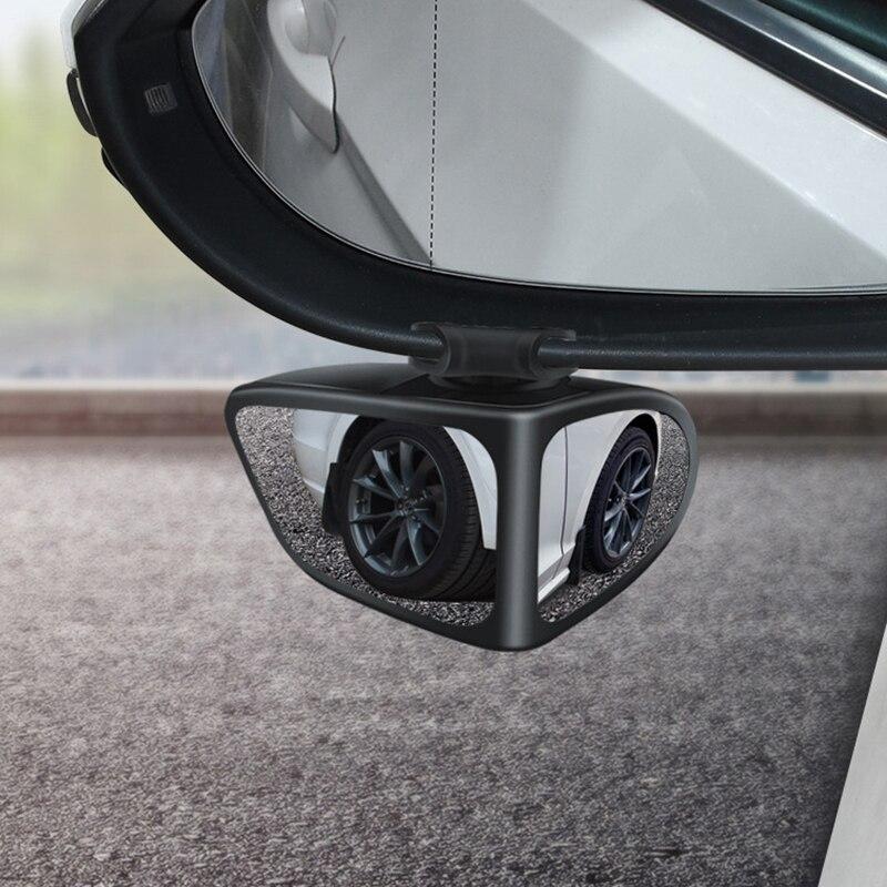 Автомобильное зеркало заднего вида, маленькое круглое переднее и заднее колесо, широкоугольное зеркало, двустороннее вспомогательное зеркало заднего вида с поворотом на 360 градусов|Зеркала и крышки|   | АлиЭкспресс