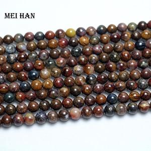 Image 3 - Meihan freeshipping (2 fili/set) naturale 6 millimetri Pietersite rotonda incredibile perline di pietra per monili che fanno di disegno Di Natale