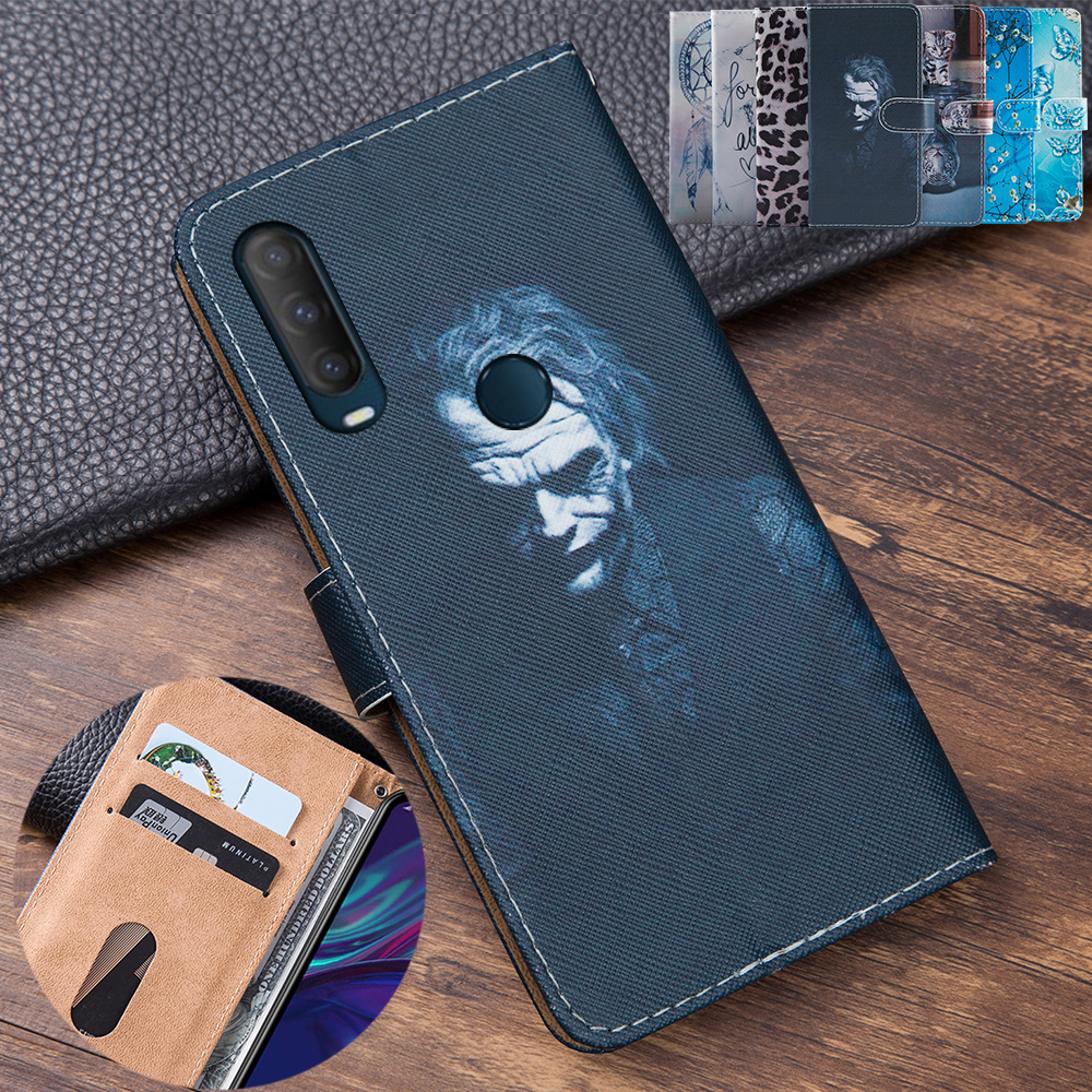 3D Embossing Clown Leather Flip Book Style Cover For Alcatel 1S 2020 Case Phone Bag Card Case For Alcatel 1 S 5028D 5028Y Shell