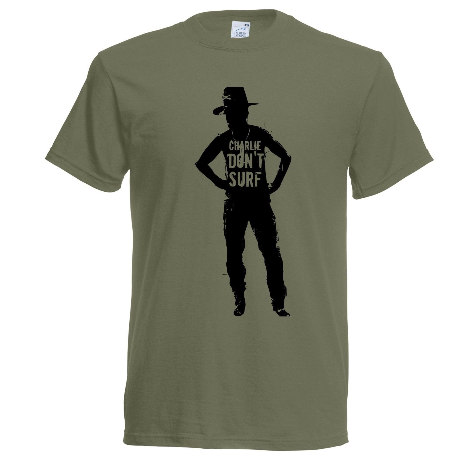 Apocalypse Now Charlie Don t Surfer T Shirt Cult Movie Vietnam Kilgore Nepalm Fashion T Shirts image