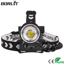 BORUiT 1959 XHP90 LED Zoomable HeadLamp USB Charger 3-Modes Headlight 18650 Head Torch For Camping Hunting Waterproof Flashlight