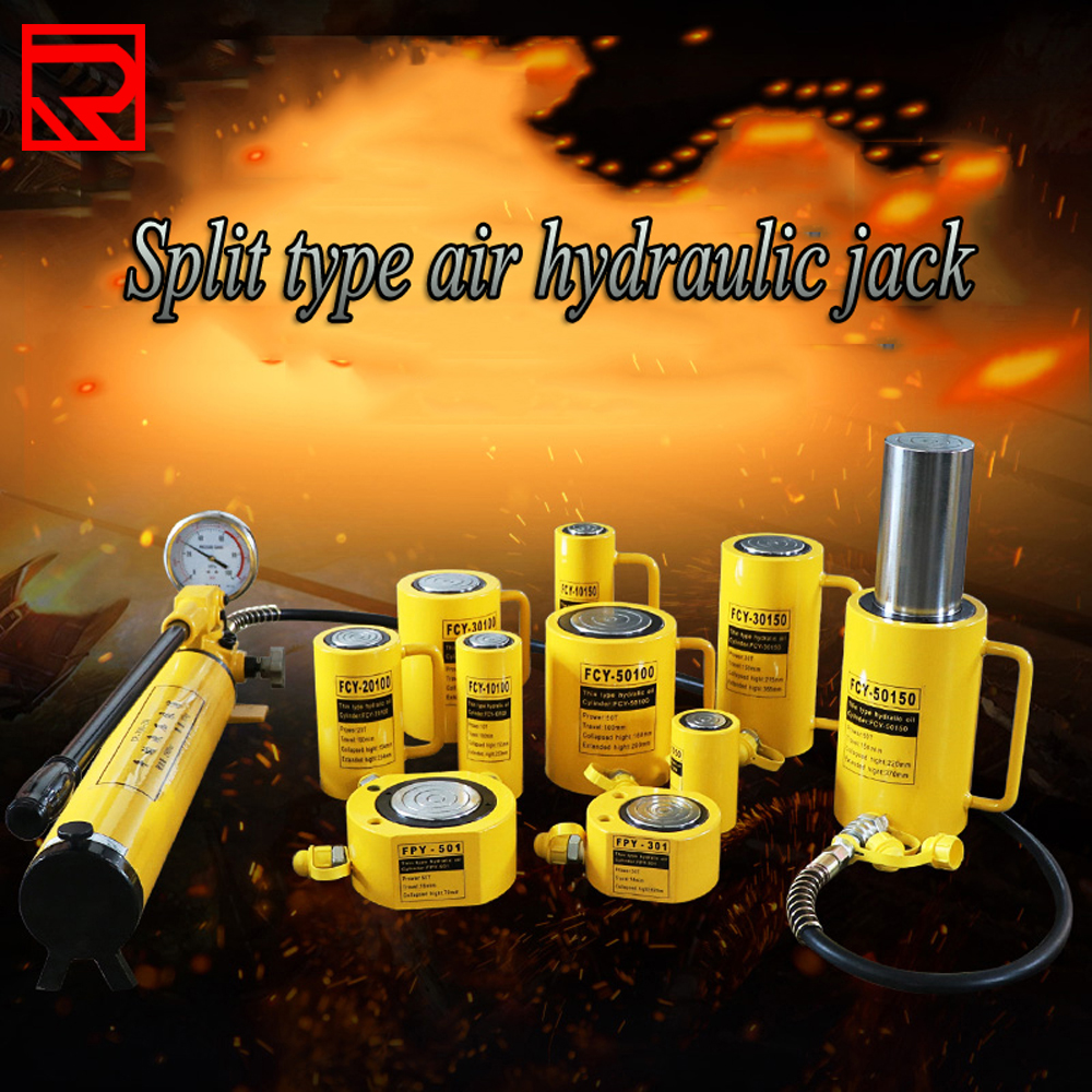 Free And Fast Shipping 5-20Tons  Hydraulic Stand Floor Cylinder Jacks With Cylinder Pump