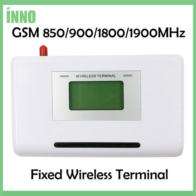 GSM 850/900/1800/1900MHZ אלחוטי קבוע מסוף עם LCD תצוגה, תמיכה מעורר מערכת, PABX, ברור קול, אות יציבה