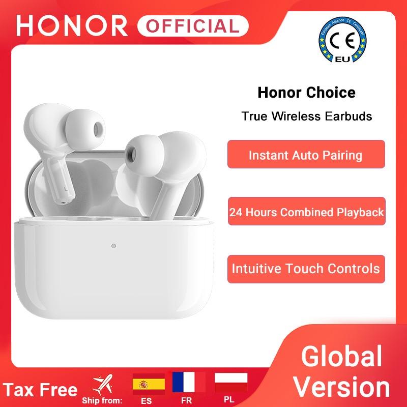 Глобальная версия Honor Choice, настоящие беспроводные наушники TWS, беспроводные Bluetooth наушники с двойным микрофоном, шумоподавление, Bluetooth 5,0 code:...