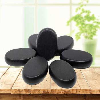 4x6cm Spa gorący kamień uroda kamienie masaż lawa kamień naturalny gorący stres relaks jade masaż zestaw masaż toe tanie i dobre opinie tontin CN (pochodzenie) basalt BODY China