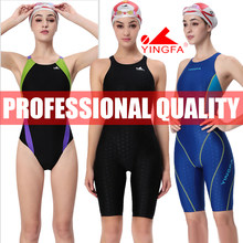 Yingfa feminino competição treinamento corrida profissional kneeskin swimwears maiôs todo o tamanho fina aprovado #925 937 921