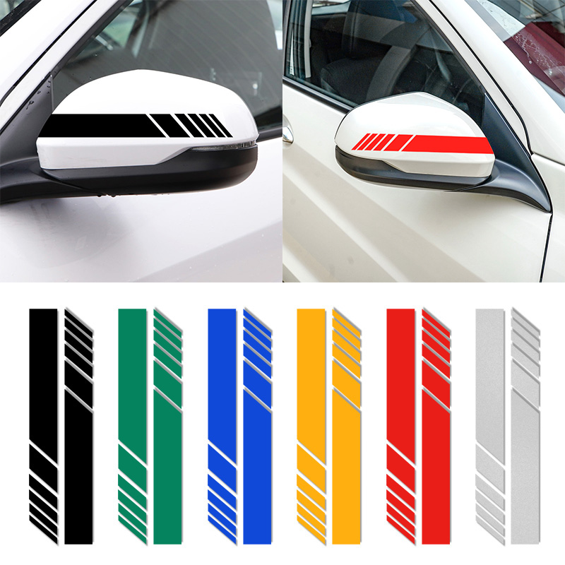 2pcs Car rearview mirror reflective decorative stickers for Mugen Power <font><b>Honda</b></font> Civic Accord CRV <font><b>Hrv</b></font> Jazz TYPER car <font><b>Accessories</b></font> image