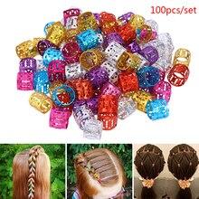 100x DIY Dreadlock Beads Adjustable Hair Braid Rings Cuff Clips Wholesale Kids