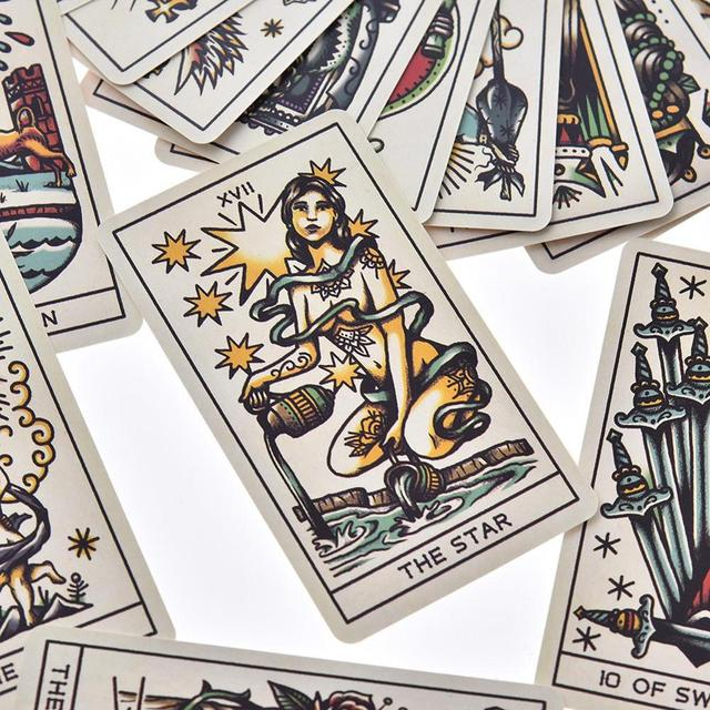78pcs Tattoo Tarot Cards Full English Board Game Tarot Card Deck Family Party Entertainment Game Playing Cards PDF Instructions 4