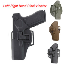 Tactical Glock Holster Combat Hunting Airsoft Gun for 17 19 22 26 31 Case Pistol Left / Right Hand