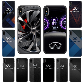Car Infiniti Phone case For iphone 4 4s 5 5S SE 5C 6 6S 7 8 plus X XS XR 11 PRO MAX 2020 black art Etui 3D cover trend hoesjes image