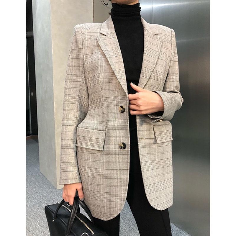 Luxury Brand Blazer Top High Quality Designer Blazer Jacket Women Slim Plaid Blazer Jacket