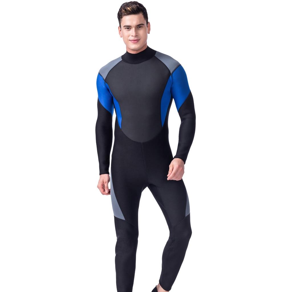 Hommes 3mm combinaisons néoprène corps complet combinaisons de plongée surf plongée en apnée kayak voile chasse sous-marine costume-plusieurs tailles