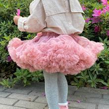 Meninas tutu saia extra fofo pettiskirt princesa tule macio crianças menina festa de dança saias 2-8 anos do bebê