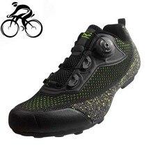Tiebao Non-lock Cycling Shoes men sneakers Knit Breathable Road Bike Rubber Soles Triathlon MTB Bicycle Bicicleta Carretera