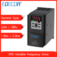 1.5kw 2.2kw VFD InSpindle Motor Speed Inverter 1 Single 3 Three Phase 220V 380V Output Variable Frequency Drive Converter