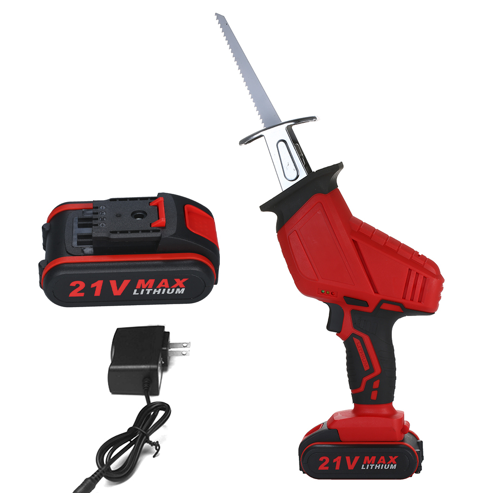Electric Saw Reciprocating Saw For Wood Metal Plasitic Pipe Cutting Power Saw Tool With 2 Batteries Rechargeable