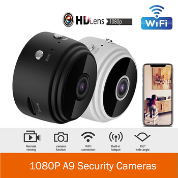 A9 1080P Full HD Mini Camera IP WIFI Cameras Support TF Card Home Security DVR Night Vision Smart Home Wireless Action Camera