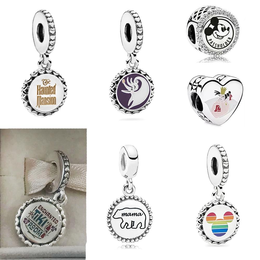 2020 Autumn New DISNE PARKS ENCHANTED TIKI ROOM CHARM My Mouse Polar Bear Mother Pendant Royal Badness Bead Diy Women's Jewelry
