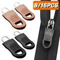 Abnehmbare Metall Zipper Pull Zipper Reparatur Kit Tags Zip Fixer für Kleidung Schwarz Zipper Puller Slider für Hause Tasche Koffer tuch