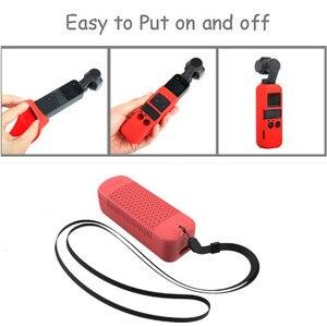 Image 2 - 6 kleuren Set Zachte Siliconen Case DJI OSMO POCKET Protector Cover met Neck Strap Lanyard voor Osmo Pocket Handheld Gimbal