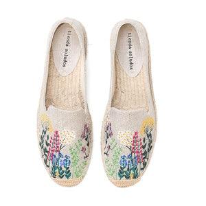 Image 1 - Tienda Soludos נעלי נשים שטוחות אופנה נוח נשים מזדמן 2019 אמיתי מיהר קנבוס Zapatillas Mujer Sapatos