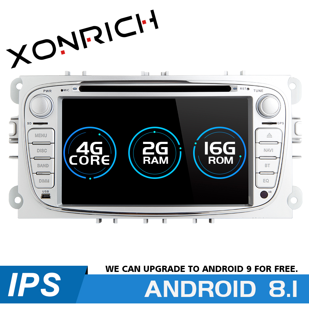Xonrich Car Multimedia Player Android 8.1 <font><b>GPS</b></font> AutoRadio 2 Din For <font><b>Ford</b></font> Focus 2 S-<font><b>Max</b></font> <font><b>C</b></font>-<font><b>Max</b></font> Mondeo 4 Galaxy Kuga Transit Connect image