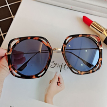 vintage alloy square hollow out sunglasses for women new luxury brand black leop