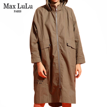 Max LuLu 2019 Autumn Fashion Korean Style Ladies Punk Clothes Women Hooded Long Trench