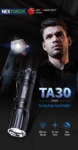 Image 2 - ترقية 1300 لومينز LED التكتيكية مضيا 18650 بطارية مشرق قابلة للشحن مقاوم للماء العسكرية كشاف بوليسي TA30 2.0