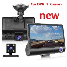 HD DVR Video-Recorder Dash-Cam Auto-Registration Rear-View-Camera 3-Lens Car