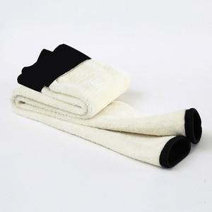 Image 5 - Black Women Winter Thick Velvet Pants Plus Size Warm High Waist Stretch Skinny Pencil Trousers Casual Wool Fleece Leggings Pant