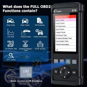 Image 3 - LAUNCH OBD 2 Car Scanner Automotive Tools Diagnostics Obd2 Scanner for Auto Tools Airbag Scan Engine Error Code Creader CR619