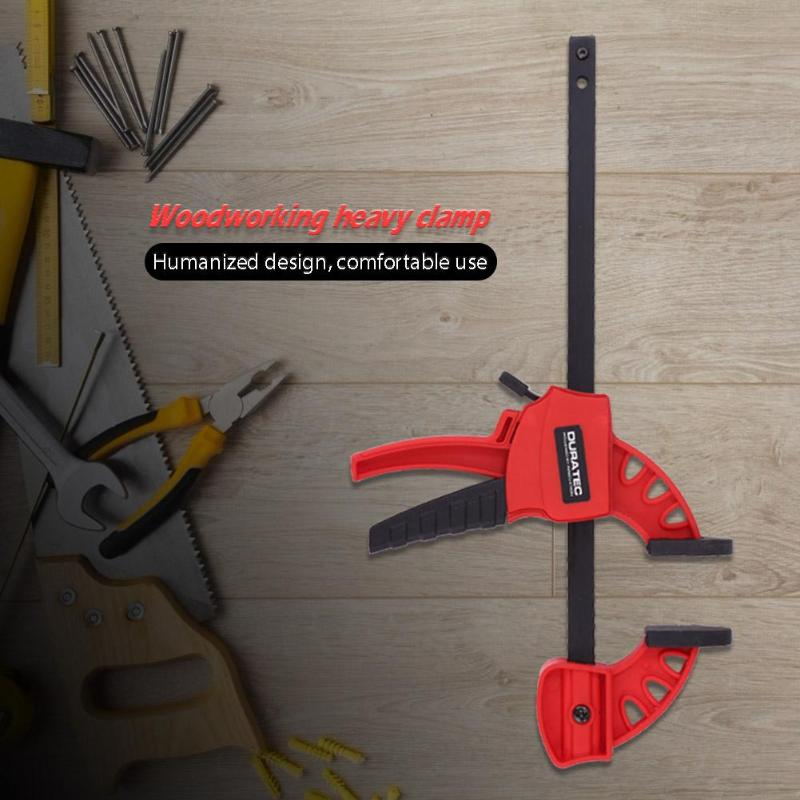 DURATEC Woodworking Plastic Quick Release Clamp F Type Extra Large Woodwork Clip High Strength Engineering Plastics Complying