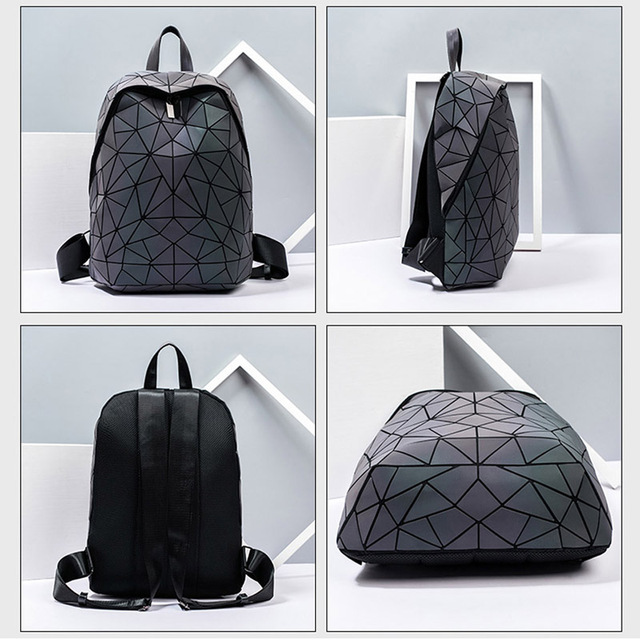 Luminous Backpacks Women Geometric Laptop Backpack 3