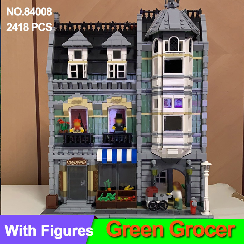 2462Pcs Creator 10185 Green Grocer Model Building Kits Blocks Bricks Compatible  City 10185 Educational Chrismas Toys