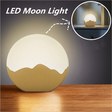 Hot Sale LED USB  Moon Dimming Bedside Lamp Creative Touch Switch Cabinet Bedroom Lamp Table Night Light Birthday Gifts недорого