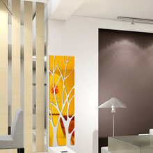 21Pcs 3D Tree mirror stickers Home living room decoration DIY Waterproof acrylic Decal restaurant Mirror Surface Wall Sticker