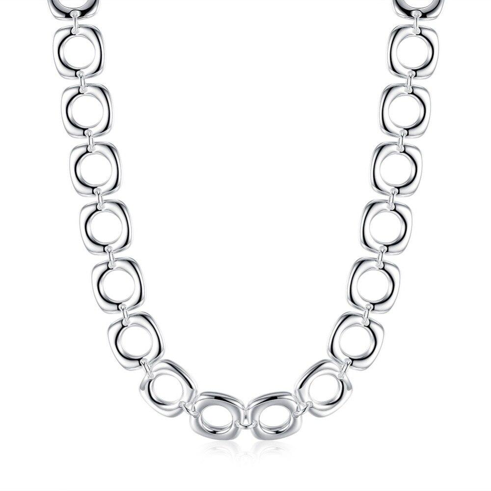 TN249 meilleure qualité 925 en argent Sterling carré unisexe design collier pour bijoux de mariage
