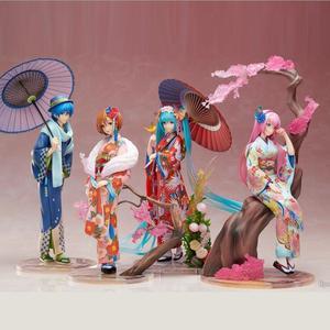 23 см Аниме Хацунэ Мику кимоно фигурку середины осени Hatsune Meiko фигурка коллекция кукол из ПВХ Фигурки игрушки
