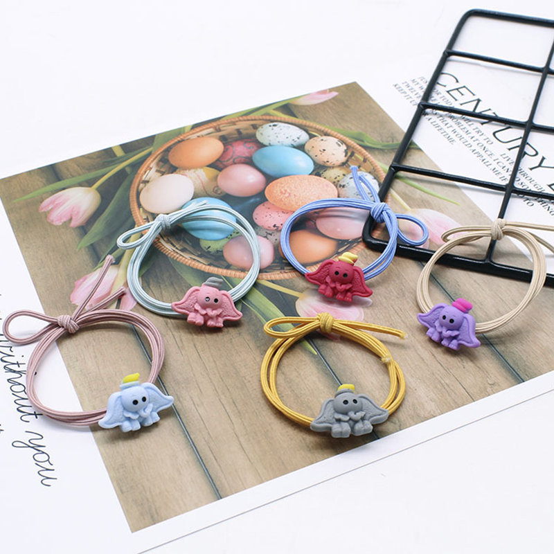 1 PCS New Children 39 s Elastic Rubber Band Head Rope Cute Cartoon Double Line Knotted Girl Hair Ties Scrunchie Hair Accessories in Women 39 s Hair Accessories from Apparel Accessories